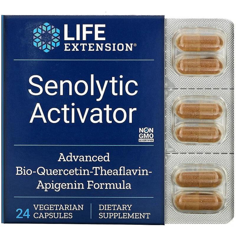Life Extension, Senolytic Activator, 24 вегетарианские капсулы