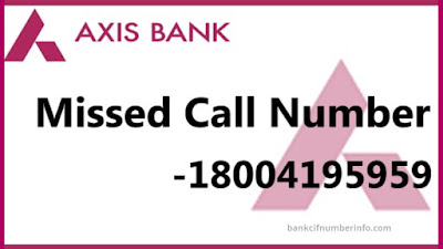 Axis Bank Balance Enquiry using Missed call