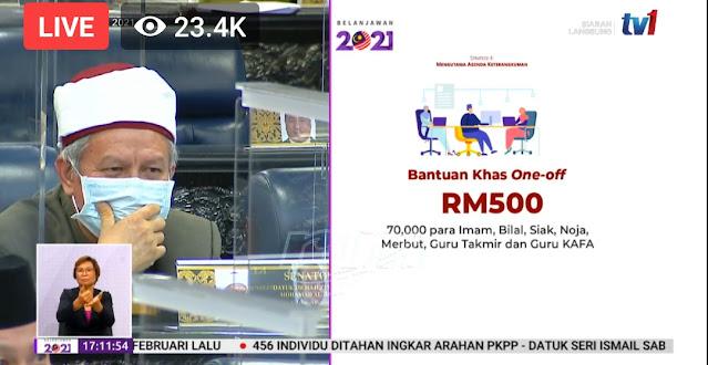 Guru KAFA Menerima Bantuan Khas One-Off RM500 Dalam Belanjawan 2021