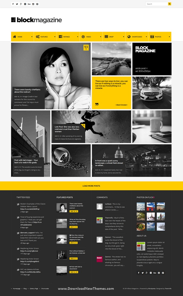 Flat and Minimalist Magazine Blog Theme