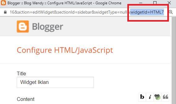 Cara Mengetahui ID Widget Blog di Blogspot