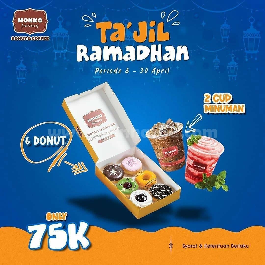 Mokko Factory Promo TAJIL RAMADHAN - 12 Lusin Donut + minuman hanya 75K
