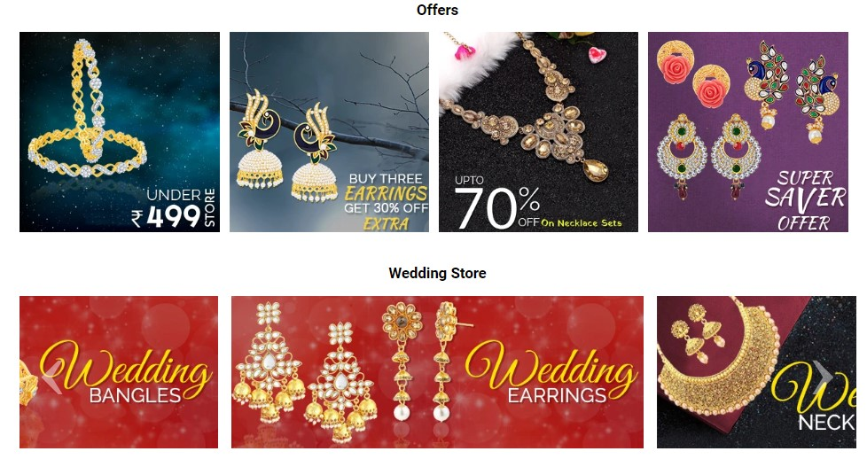 Flat 70% off- Upgrade your fashion jewellery now
