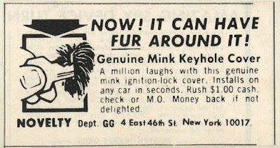 Genuine Mink Keyhole Cover