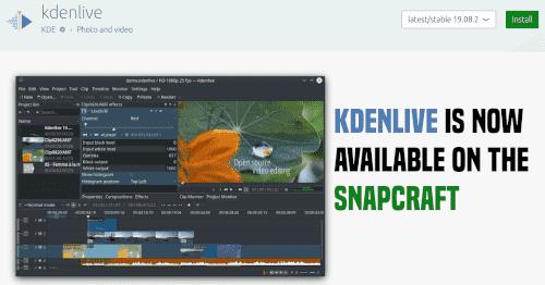 تطبيق Kdenlive متاح للتحميل عبر مخزن snapcraft