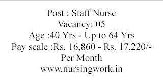 Staff Nurses Recruitment District Health and Family Welfare Samity Purulia