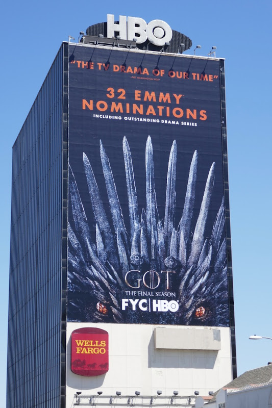 Game of Thrones 32 Emmy nominations billboard