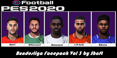 PES 2020 Bundesliga Facepack vol 3 by Shaft