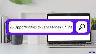25 Opportunities to Earn Money Online