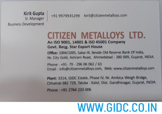CITIZEN METALLOYS LTD