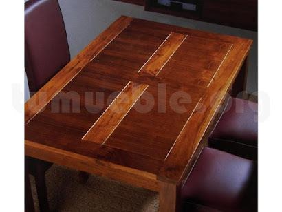 mesa comedor con tapa rejilla hecho en teca 4191/2