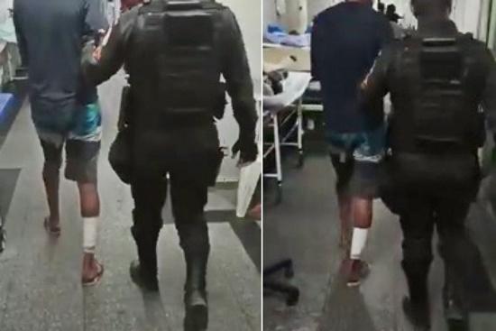 Homem é preso após agredir diretora de escola e desacatar policiais em Saturnino Braga