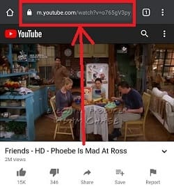 How to copy and past link of youtube video in youtube mobile app?
