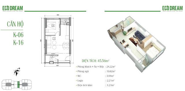 Căn hộ 06 - 16 Eco Dream