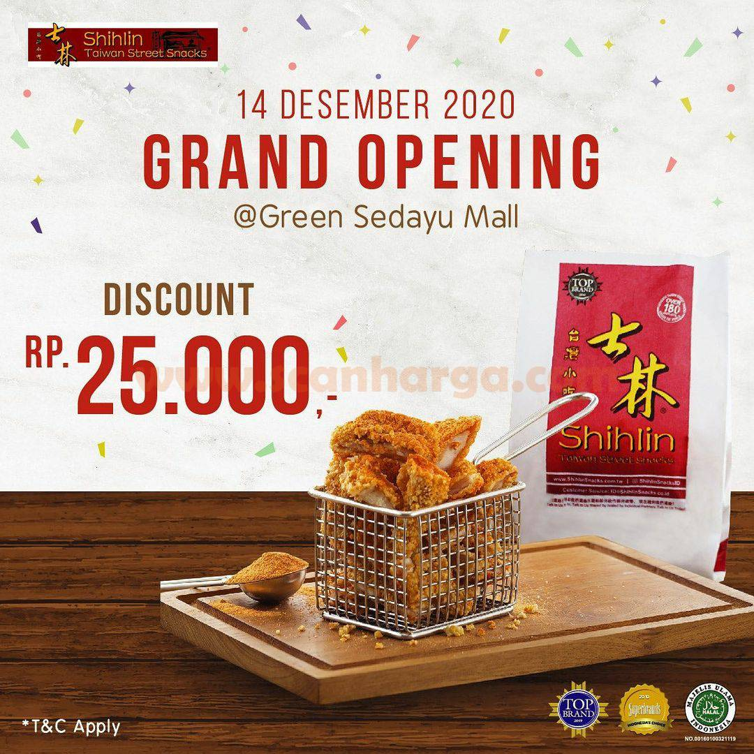 Shihlin Green Sedayu Mall Opening Promo Discount Rp 25.000