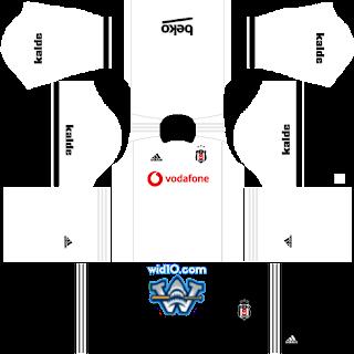 Beşiktaş 2018-2019 Dream League Soccer DLS/FTS Kits Forma ve Logo