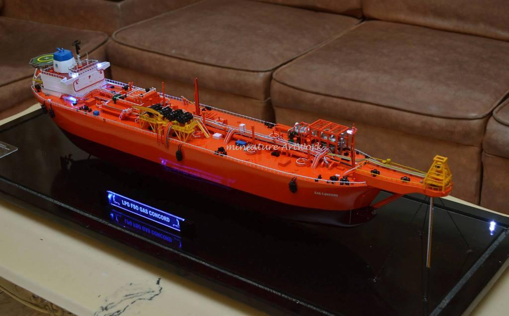 miniatur kapal liquefied petroleum gas lpg fso gas concord vessel tanker offshore ship vlcc pt pertamina planet kapal rumpun artwork