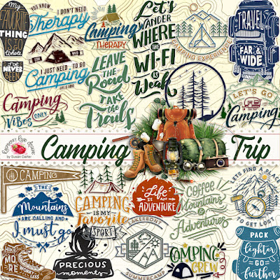 Camping Trip Word Art