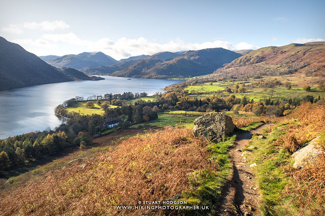 Ullswater walks Gowbarrow Fell Aira Force best Lake District views Lakes Cumbria England