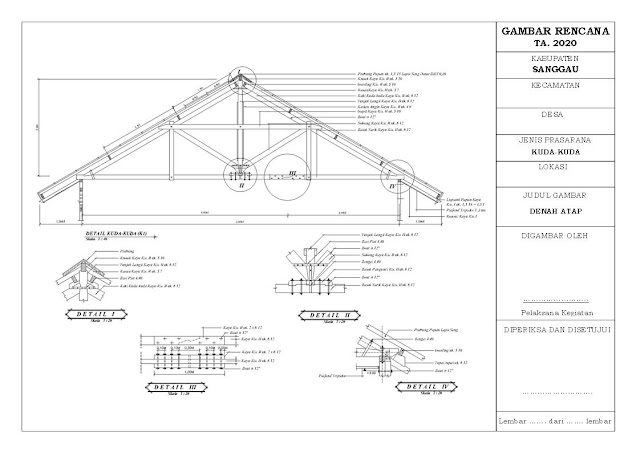 Desain dan RAB Pembangunan Balai Pertemuan (6m x 12m)