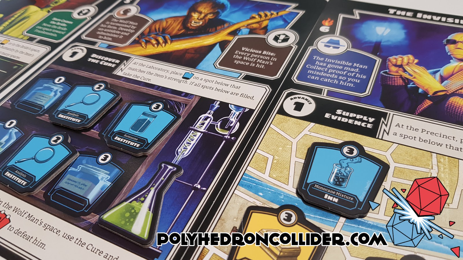 Polyhedron Collider Horrified Board Game Review - Defeating the Monsters