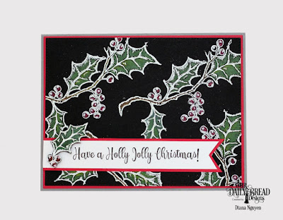 Our Daily Bread Designs Stamp Set: Holly Leaves, Custom Dies: Pierced Rectangles