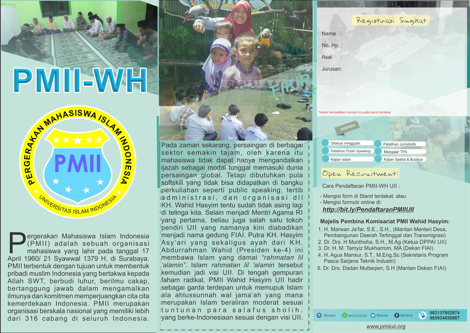 Brosur Pmii Komisariat Wahid Hasyim Uii Official Pmii Komisariat