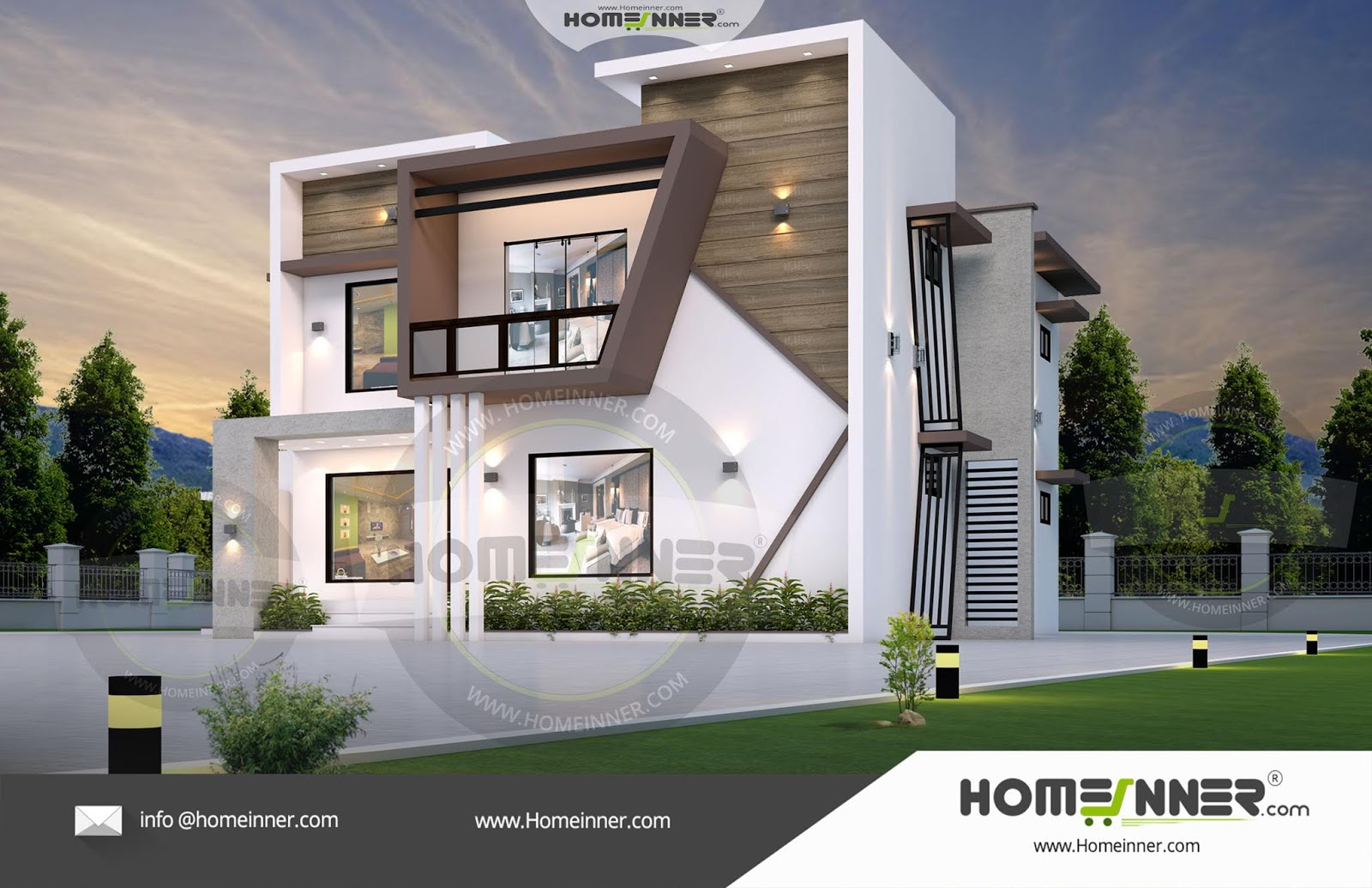 HIND-39955 Architectural house plan villa floor plan package