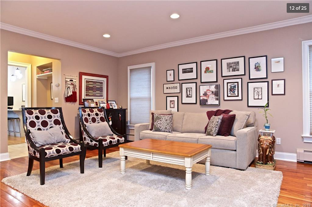 Aladdin Yale kit house  • living room • 21 Amundsen St Norwalk CT
