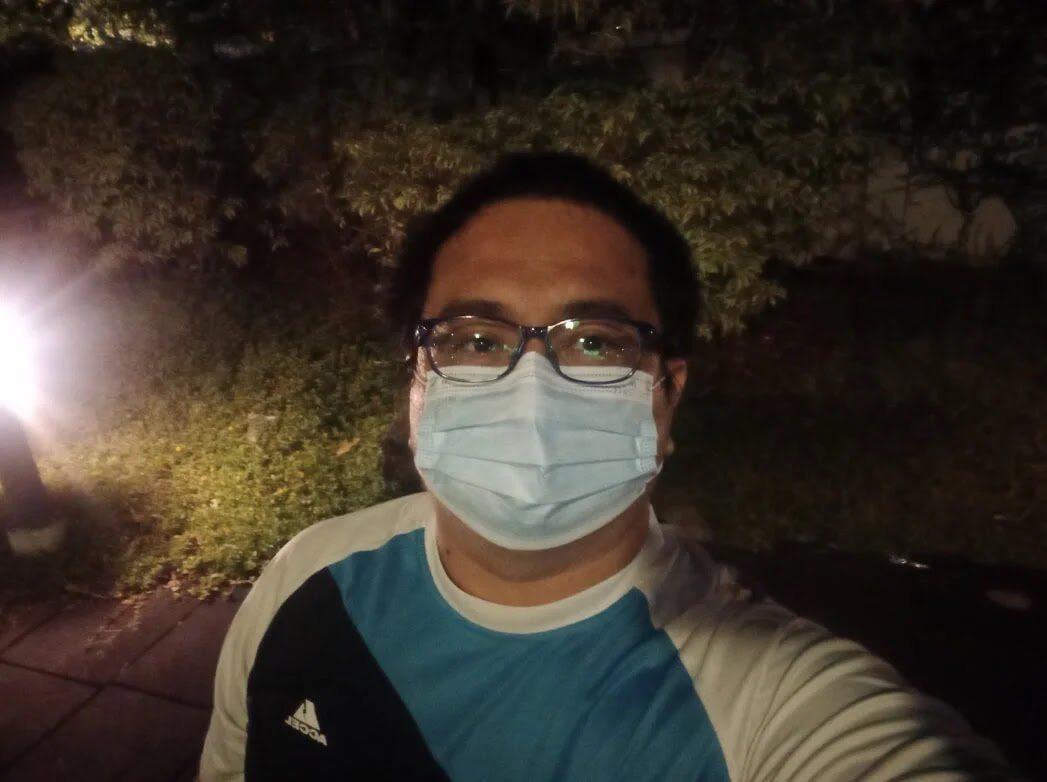 Samsung Galaxy A12 Camera Sample - Selfie, Night