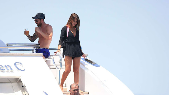 Antonella Roccuzzo on holiday in Ibiza