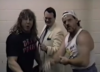 Smoky Mountain Wrestling - The Heavenly Bodies faced The Bruise Brothers in a Tag Team Gang Fight