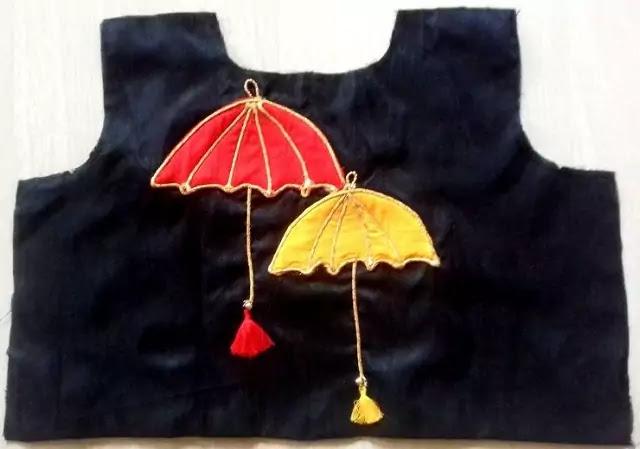 Umbrella Blouse Design blouse designs back side
