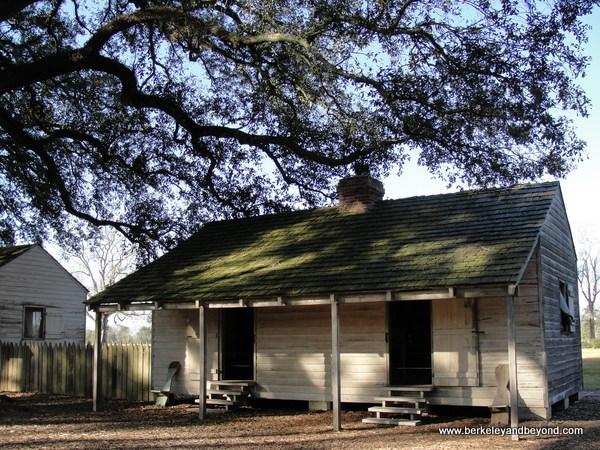 slave cabin at Oak Alley Plantation in Vacherie, Louisiana
