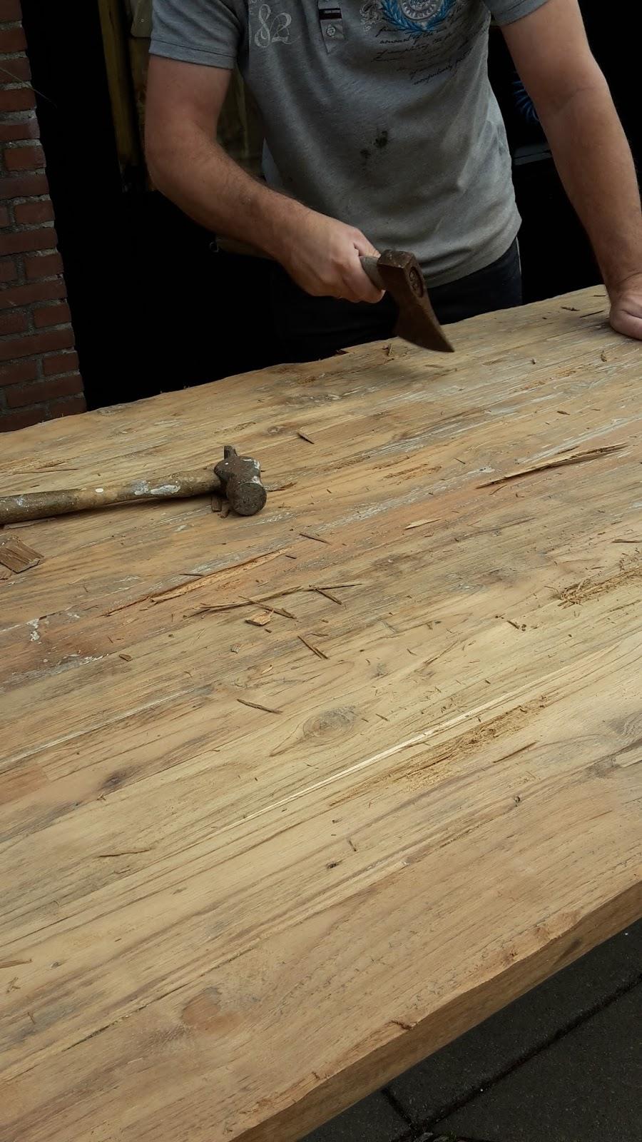 Top wonen in je eigen stijl: teak houten tafel beitsen CJ09
