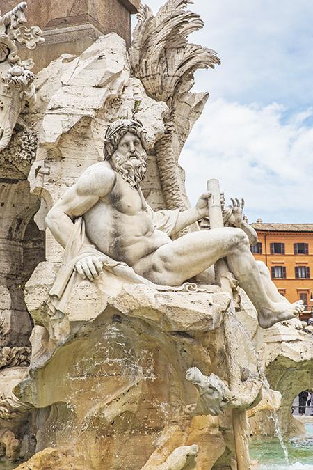 Rome, Italy by Posh, Broke, & Bored - Fontana dei Quattro Fiumi in Piazza Navona
