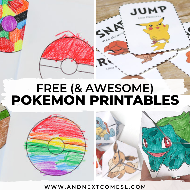 photo regarding Make Your Own Matching Game Printable called Free of charge Pokemon Printables for Children And Up coming Arrives L