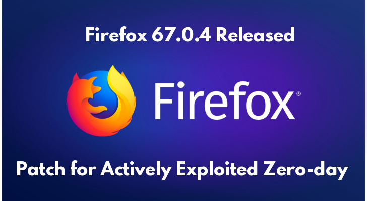 Firefox 67.0.4  - dB4LZ1561129478 - Firefox 67.0.4 Released – Mozilla Fixed Second Zero-day within a Week