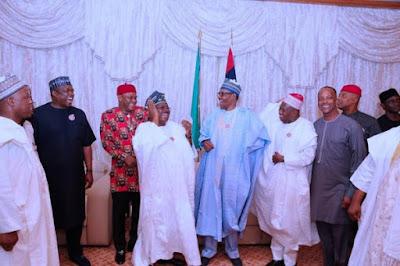 buhari4 - 9JA NEWS: #PMBAt75: Governors, Saraki, Dogara, Tinubu, Well-wishers surprise Buhari on his 75th Birthday