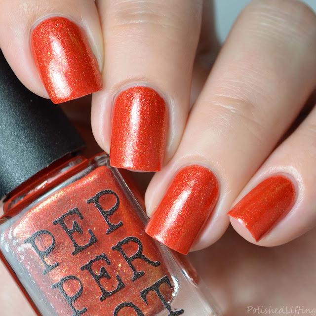 orange metallic nail polish