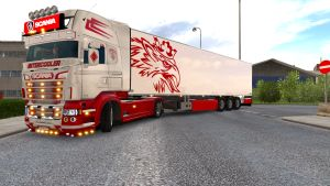 White & Red Griffin + lightbox pack for Scania RJL