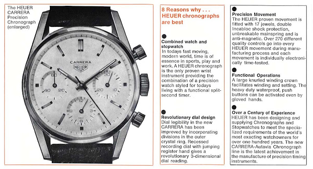 Heuer Carrera in a 1964 catalogue