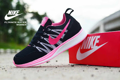 Sepatu Nike Free Flyknit Women Black Pink