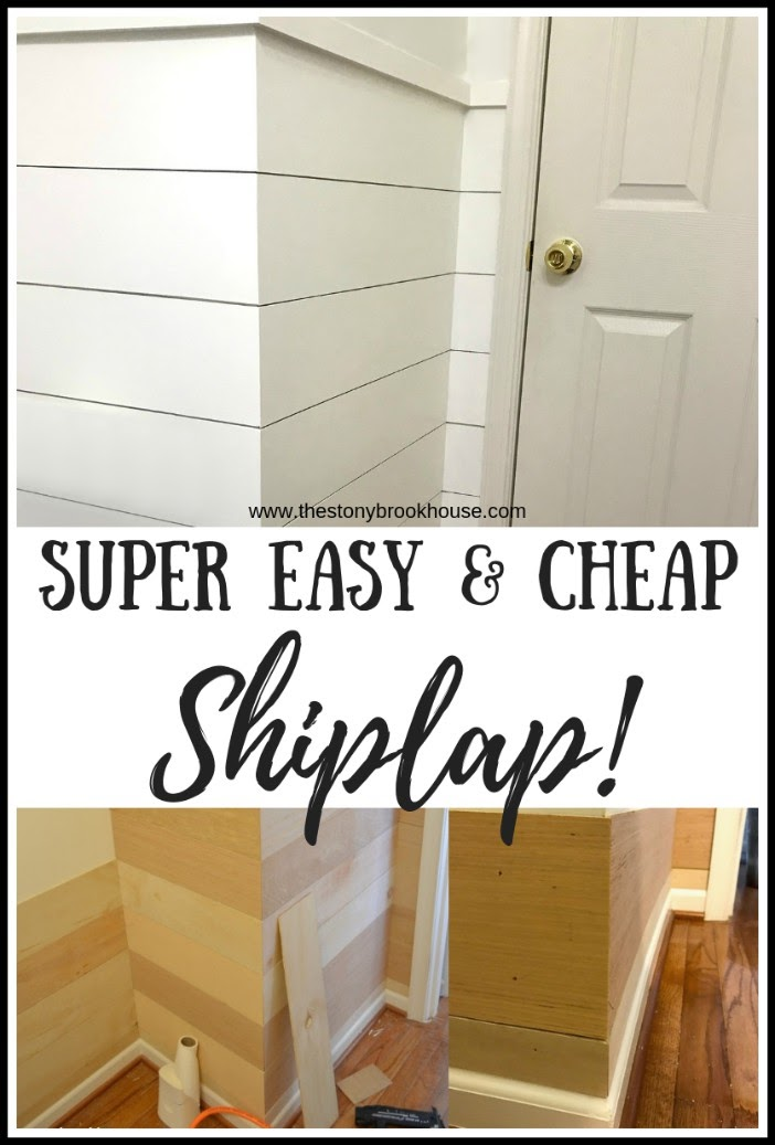 Super Easy and Cheap Shiplap