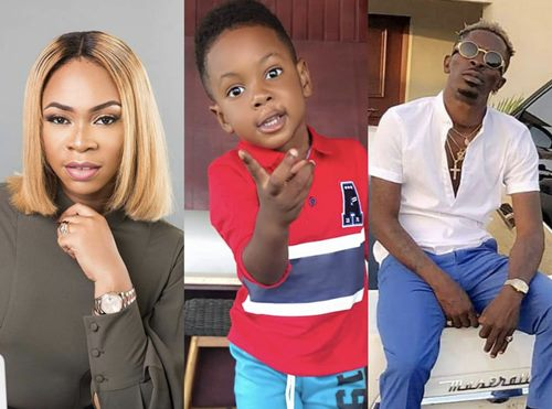 Shatta Wale, michy and their son