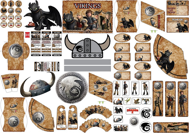 How to Train your Dragon 2 Free Printable Kit.