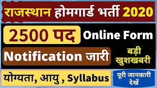 Rajasthan Home Guard Recruitment 2020