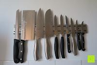 Messer am Halter: Andrew James – Professioneller Magnetmesserhalter Aus Edelstahl – 45cm