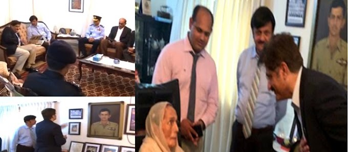 CM Sindh visits Rashid Minhas' home due to defense day
