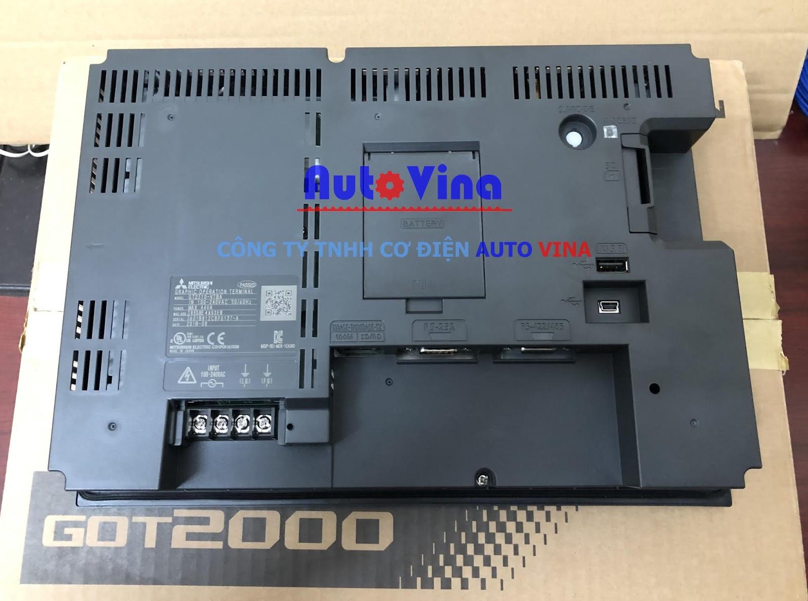 Mặt sau của màn hình cảm ứng HMI Mitsubishi GT2310-VTBA